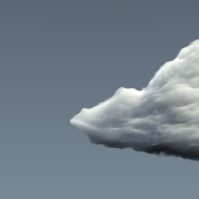 ...vymodelované mraky na základě vizuálního vjemu...